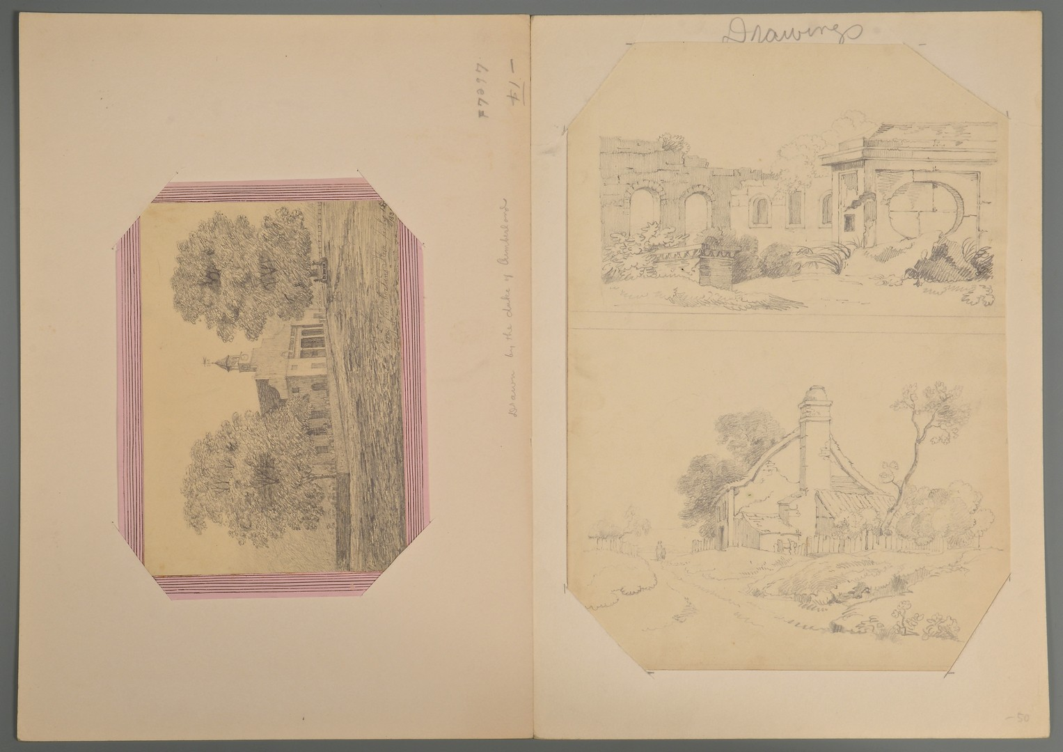 Lot 791: 3 Drawings inc. Geo. Cumberland