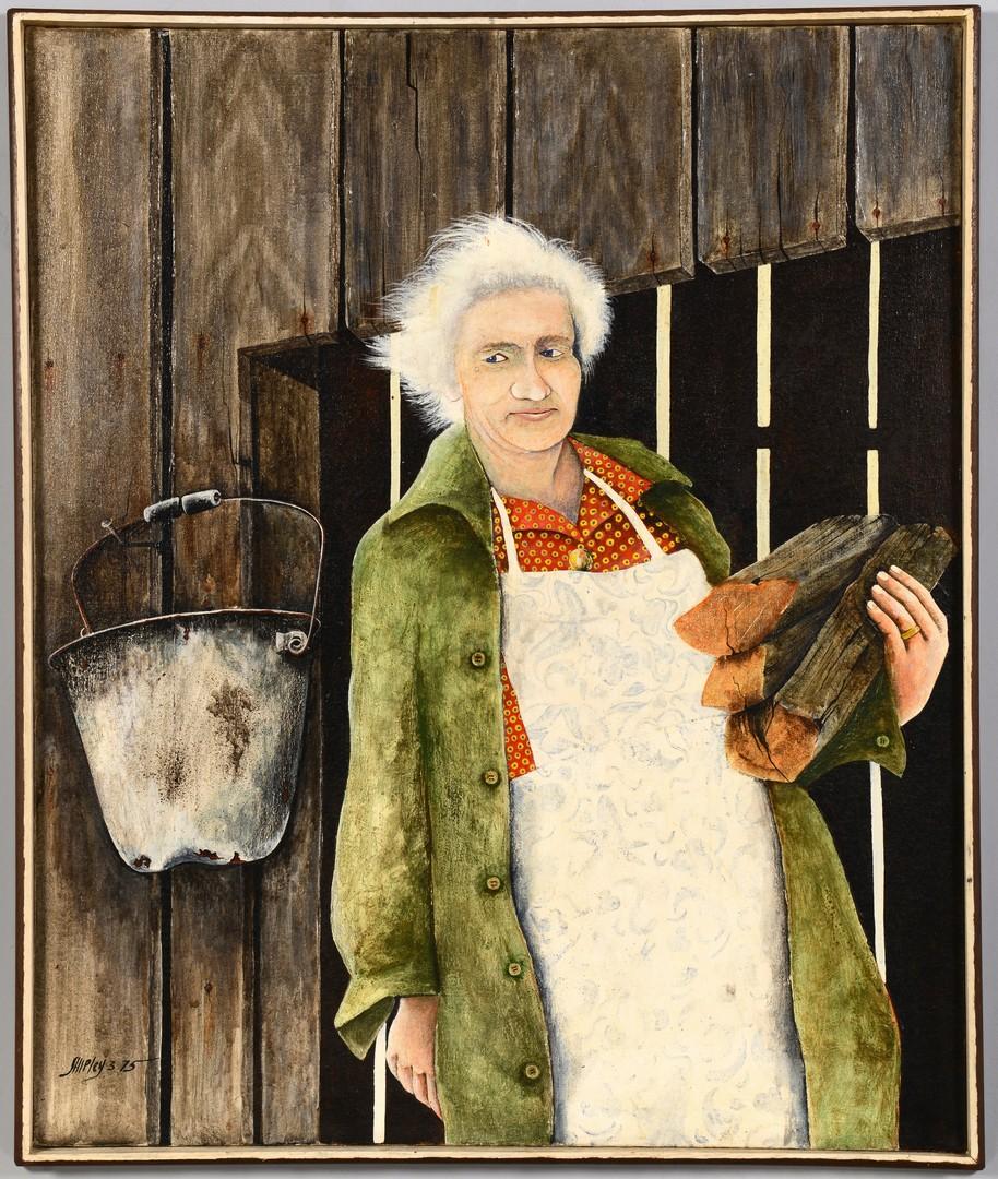 Lot 794: Thomas Shipley Oil on Canvas Portrait