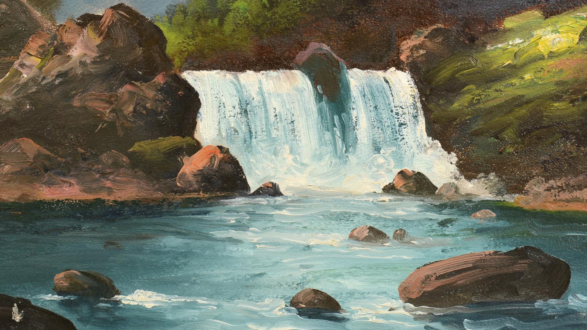 Lot 795: 2 Lorenz Griffith Landscape Oil on Boards