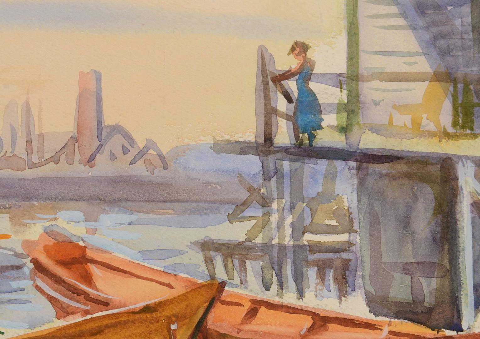 Lot 799: 2 Harbor Scene paintings