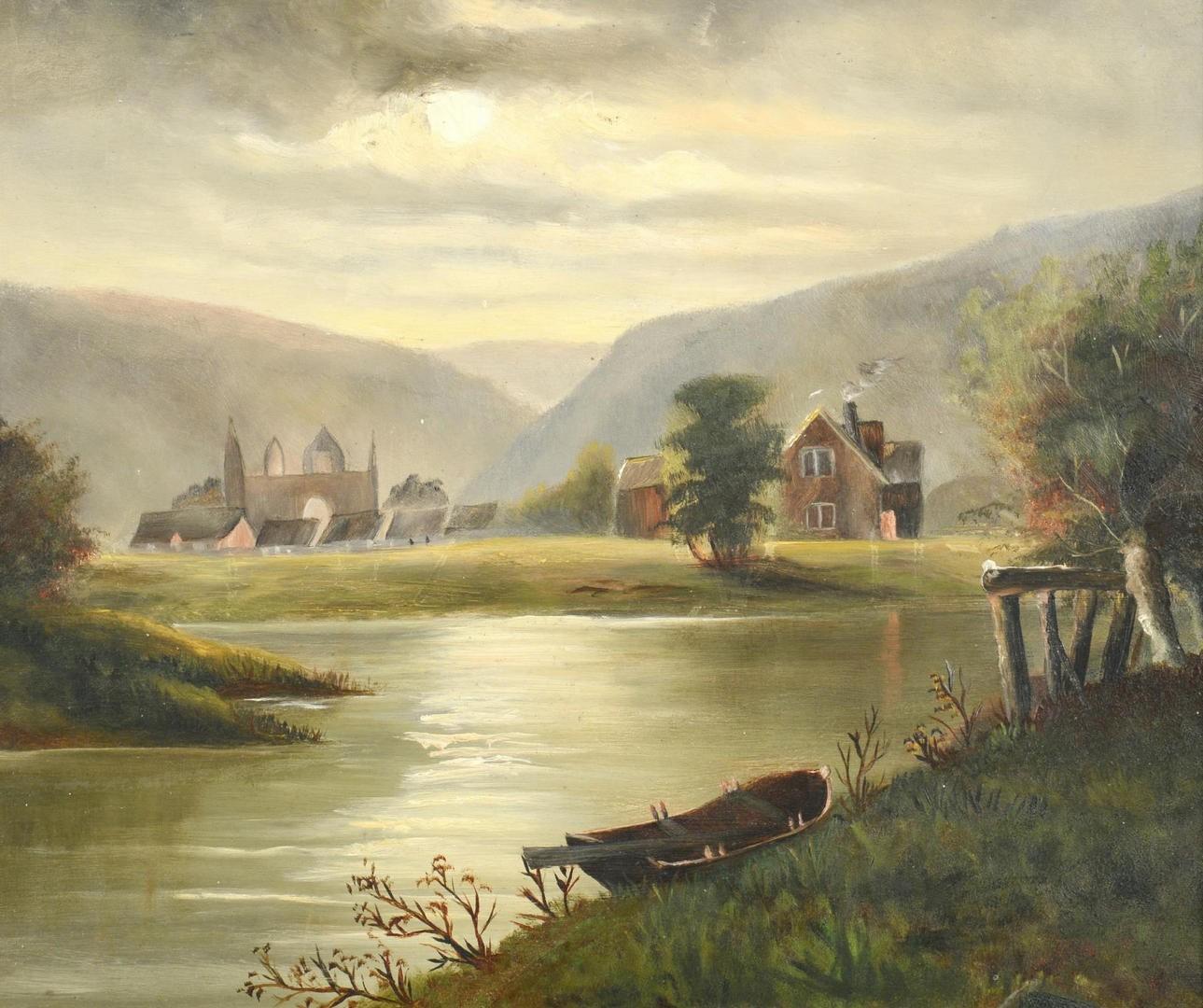 Lot 800: Two 19th c. European School Landscapes