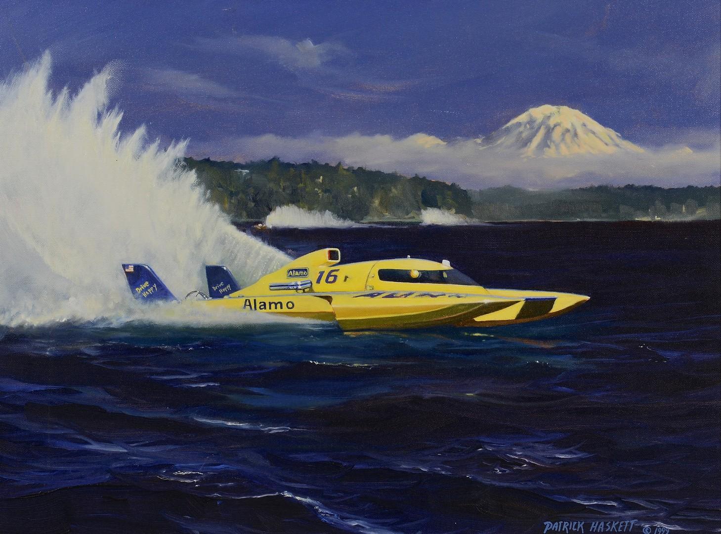 Lot 802: Patrick Haskett Oil on Canvas & Study