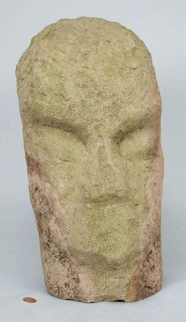Lot 804: Carved Limestone Sculpture attr. Jack Kershaw