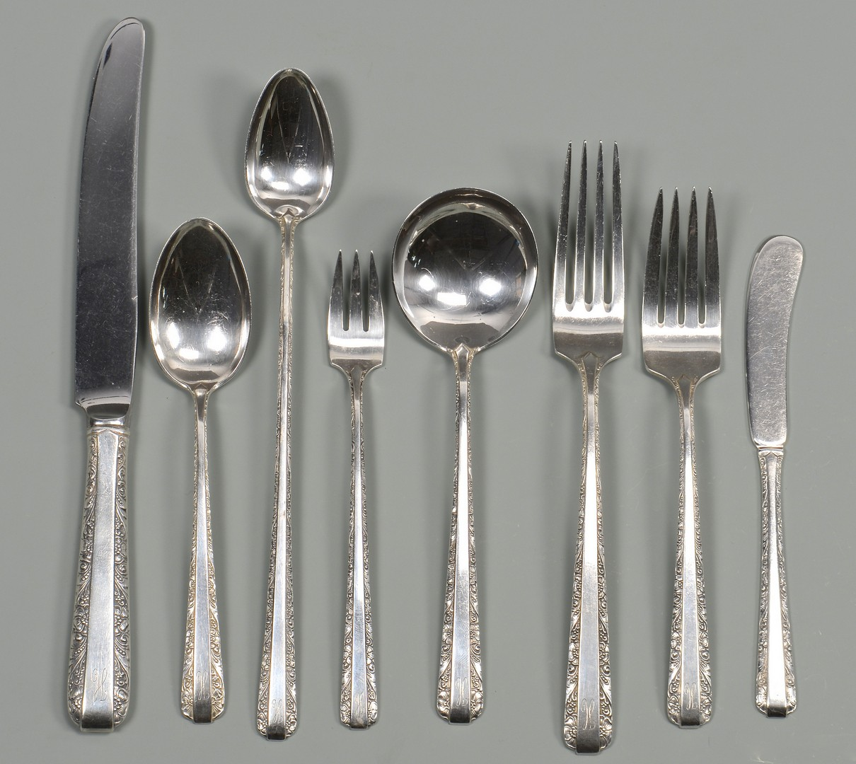 Lot 806: Towle Sterling Flatware, Candlelight, 88 pcs.
