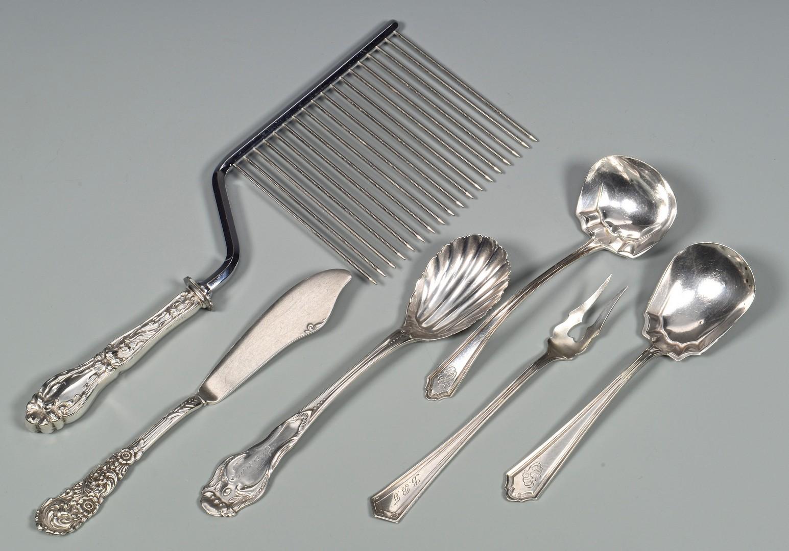 Lot 807: International Sterling flatware, May Melody, + assorted flatware