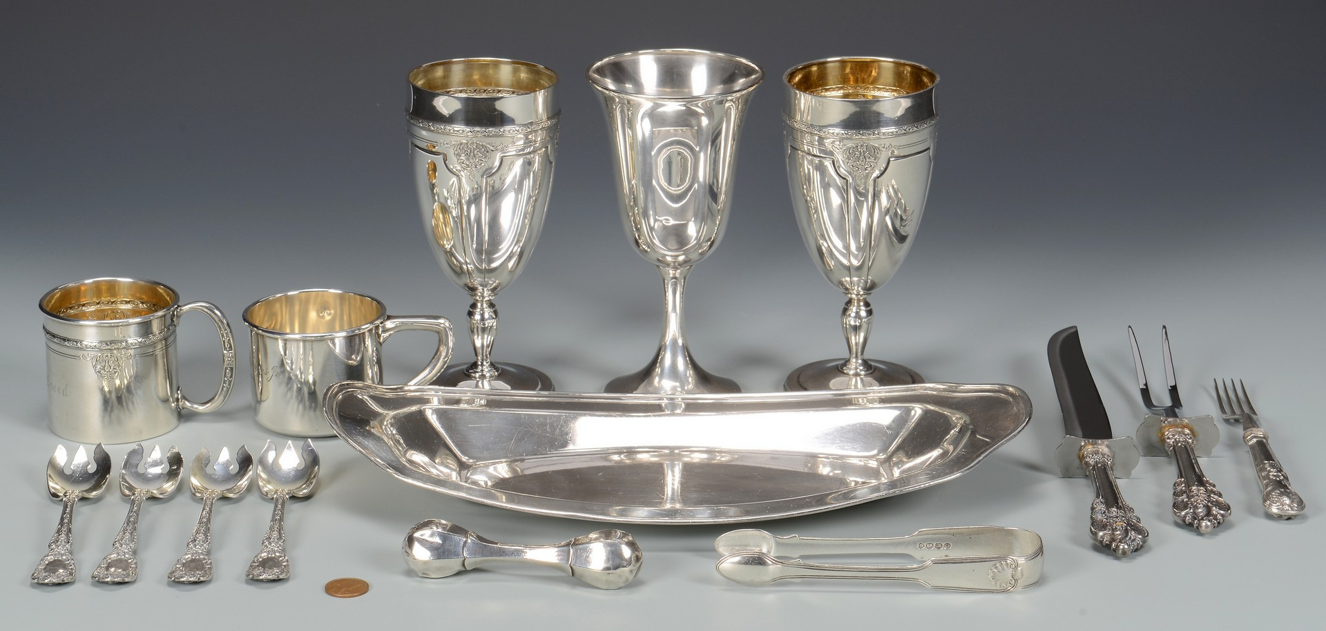 Lot 809: Assorted Sterling Silver, 15 items