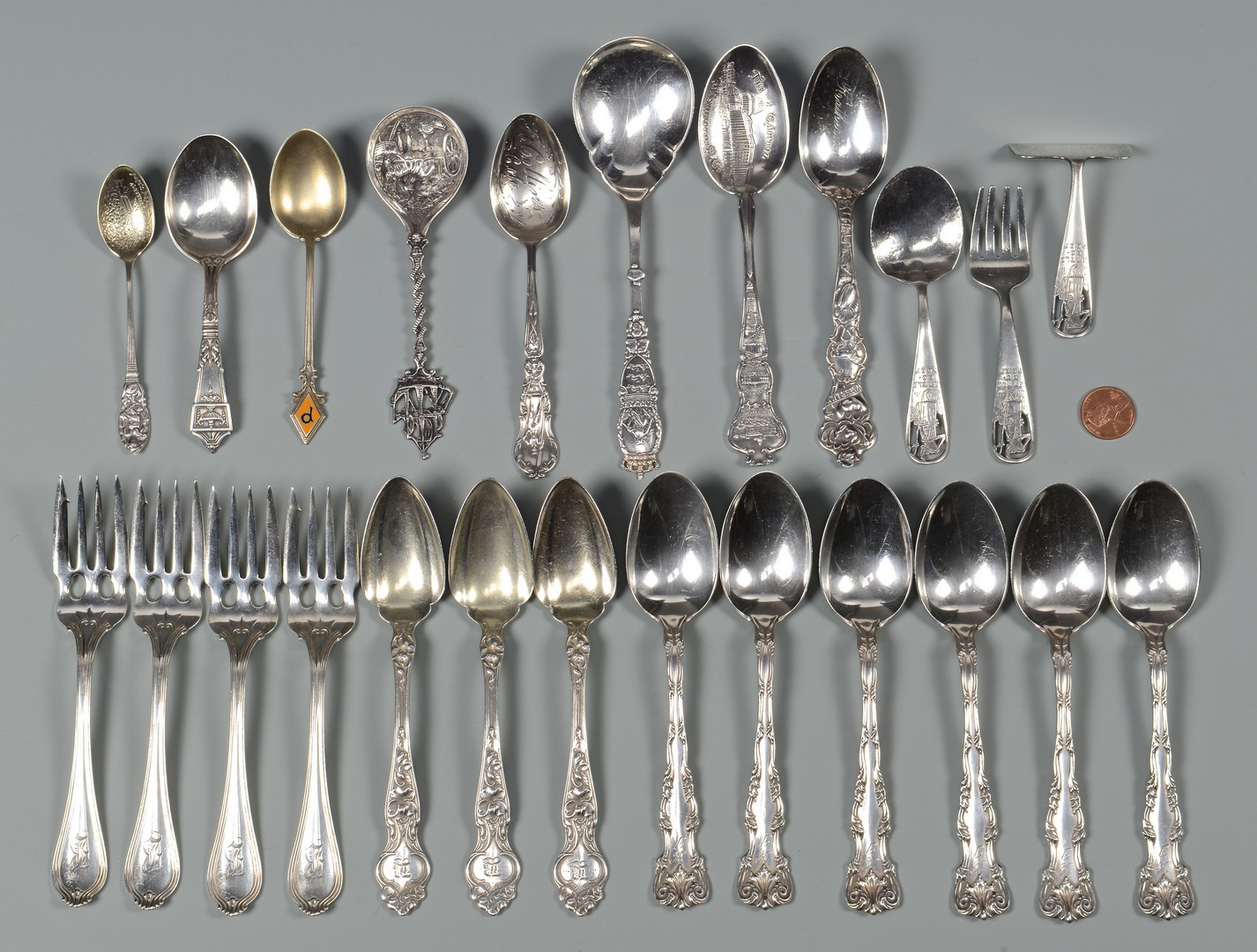 Lot 812: Group of Sterling Silver Flatware