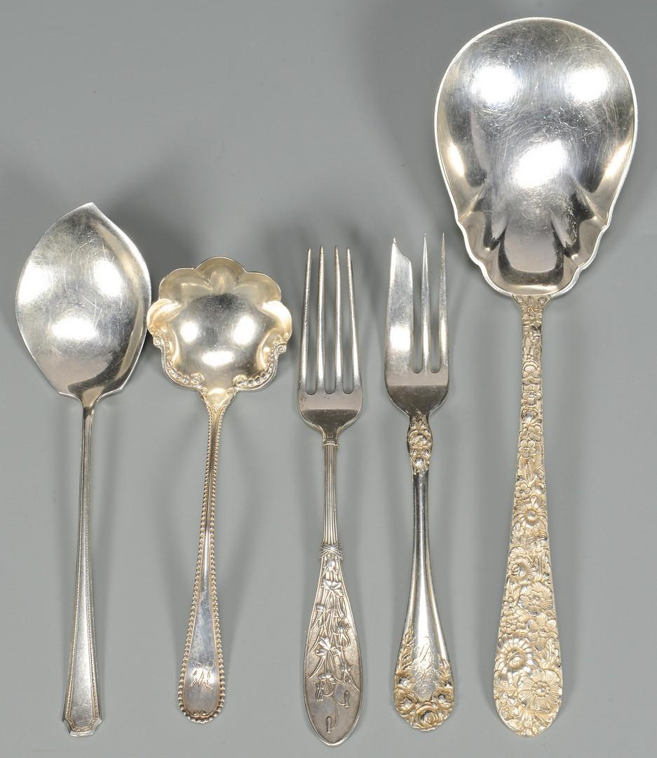Lot 818: Assd. Silver Hollowware, Flatware, 19 items