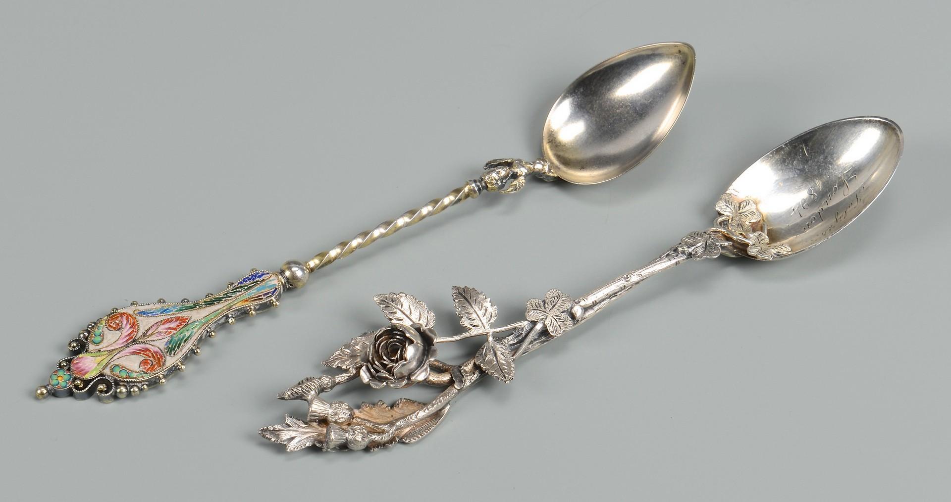 Lot 819: 29 Souvenir Spoons plus pick, most sterling