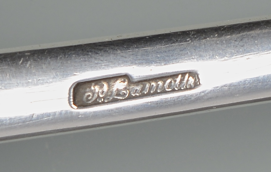 Lot 81: Lamothe Creole Coin Silver Ladle