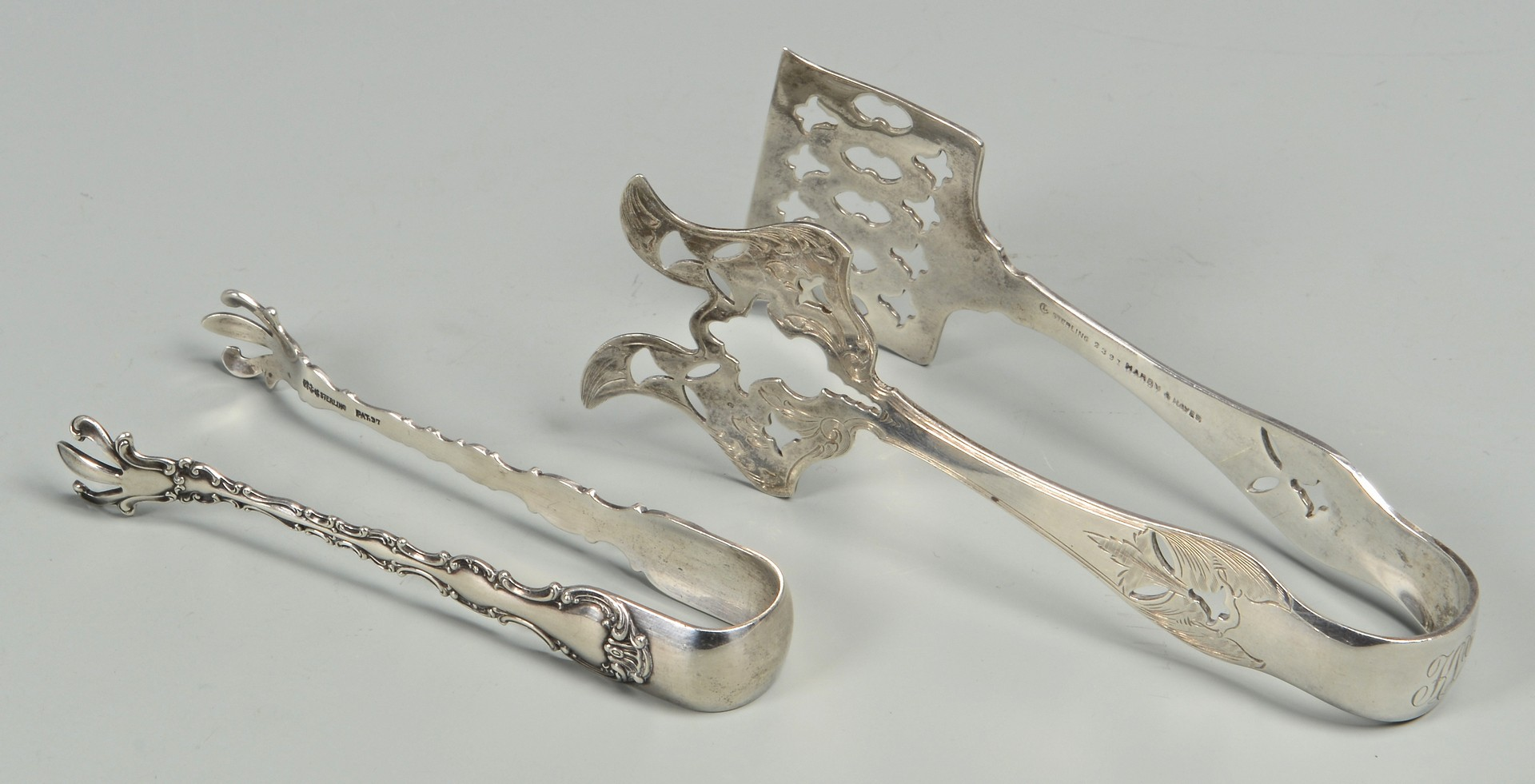 Lot 820: Group of Sterling Silver Serving Pieces