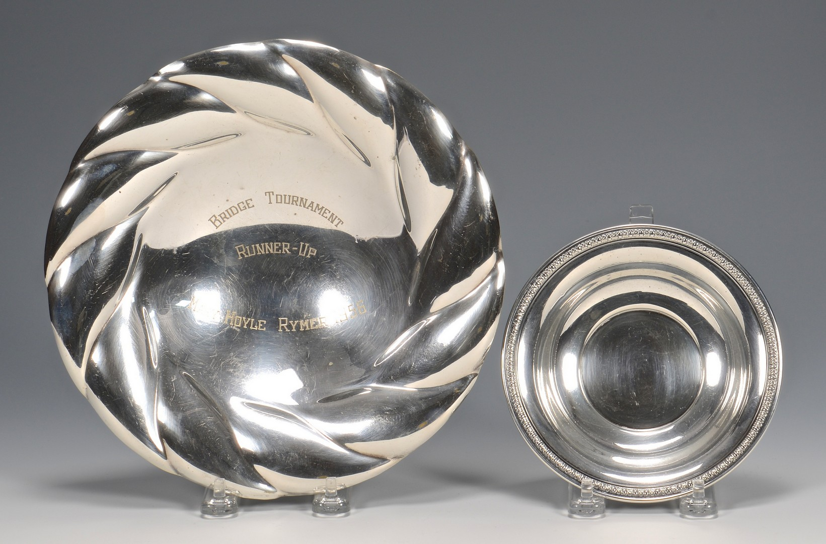 Lot 821: Group of sterling and silverplate