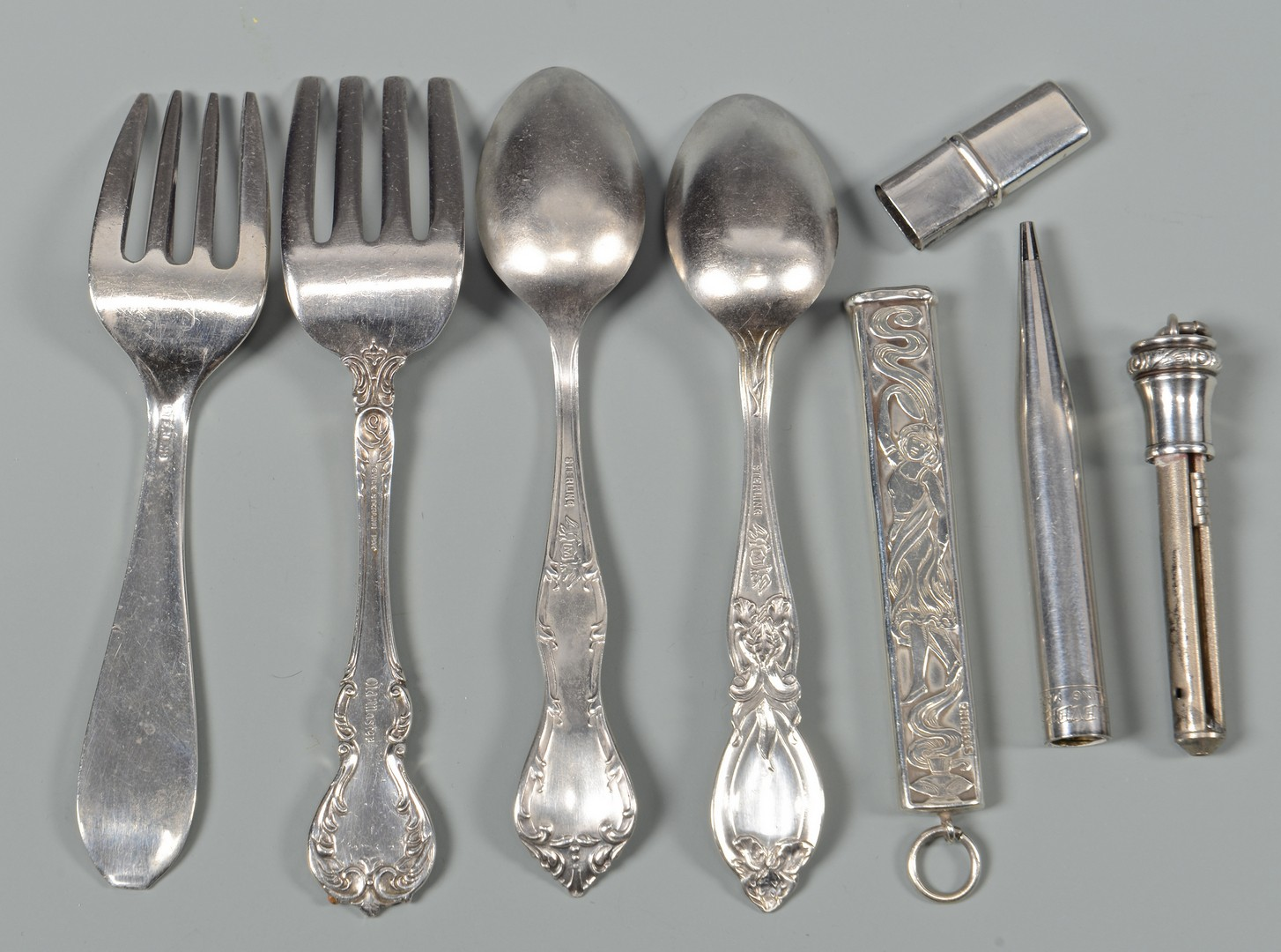 Lot 825: Group of Misc. Sterling Silver Items, 24 Pieces