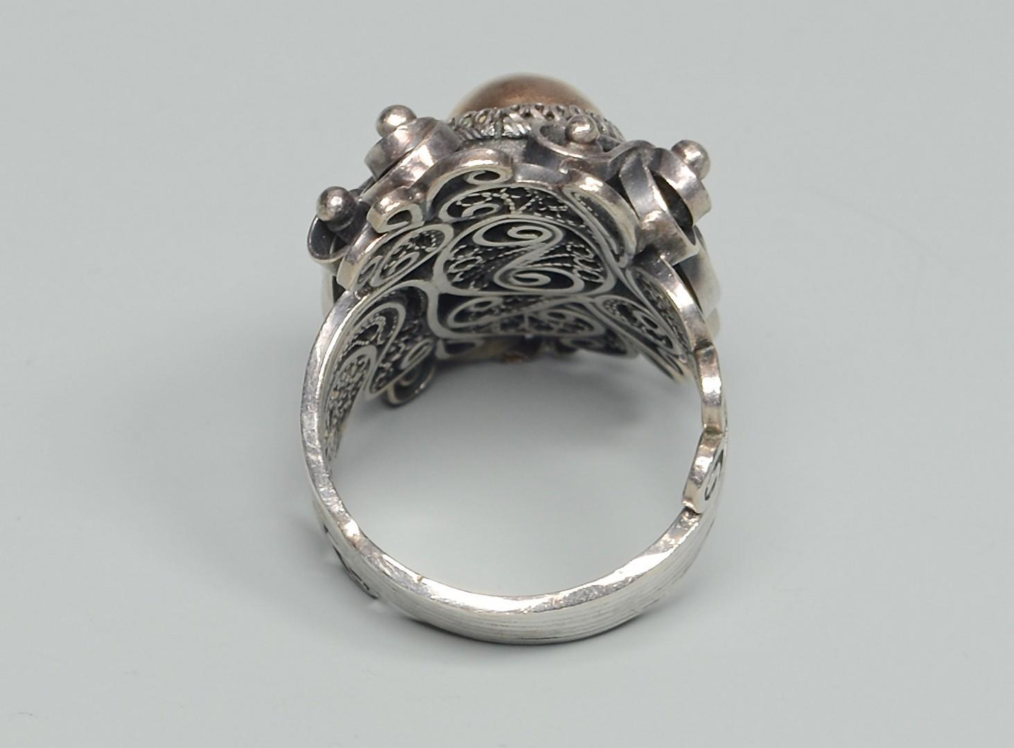 Lot 826: 3 Silver Necklaces & Enamel Ring