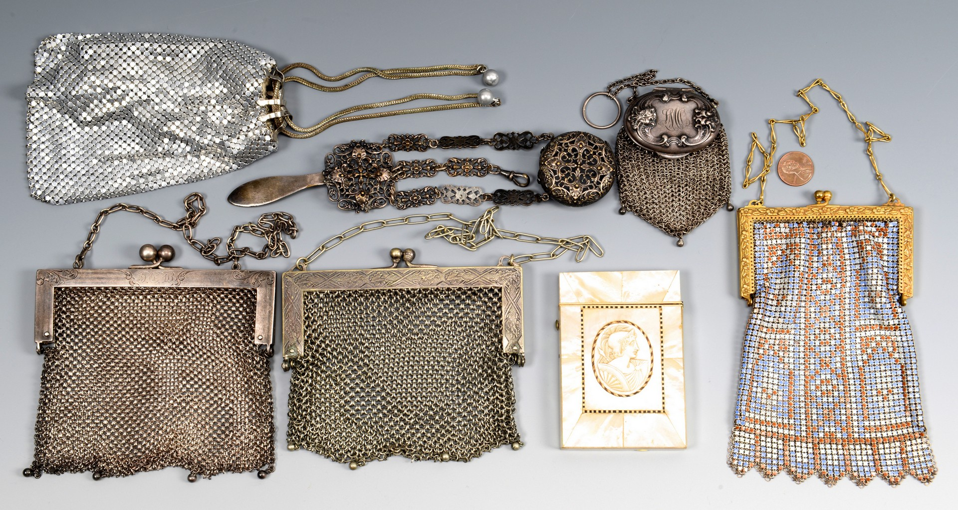 Lot 835: Misc. Ladies Items inc. purses, card case