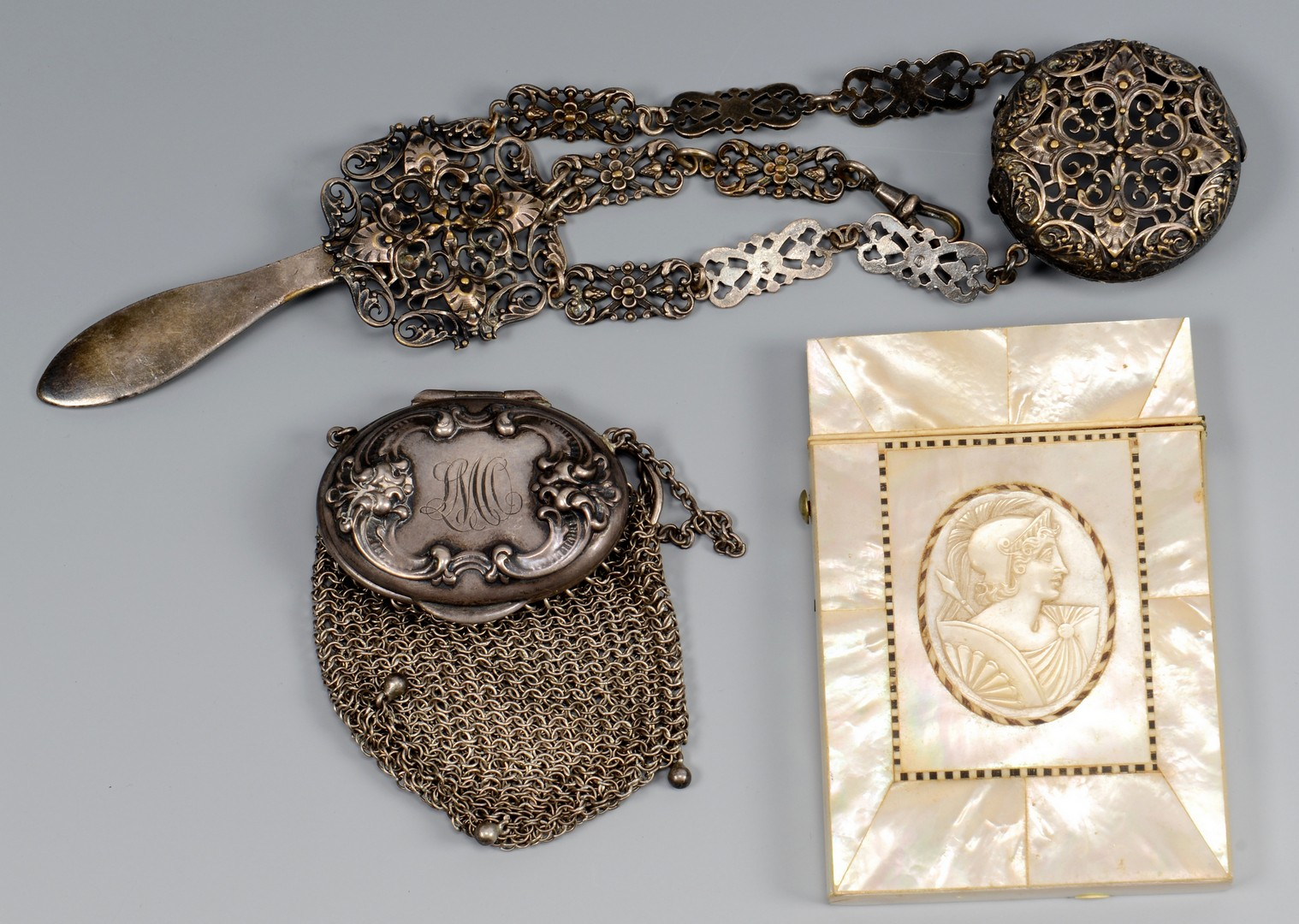 Lot 835: Misc. Ladies Items inc. purses, card case