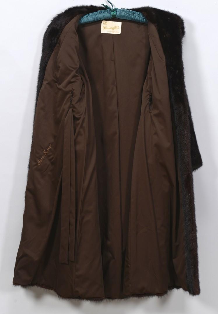 Lot 836: Ladies Full Length Dark Brown Mink Coat