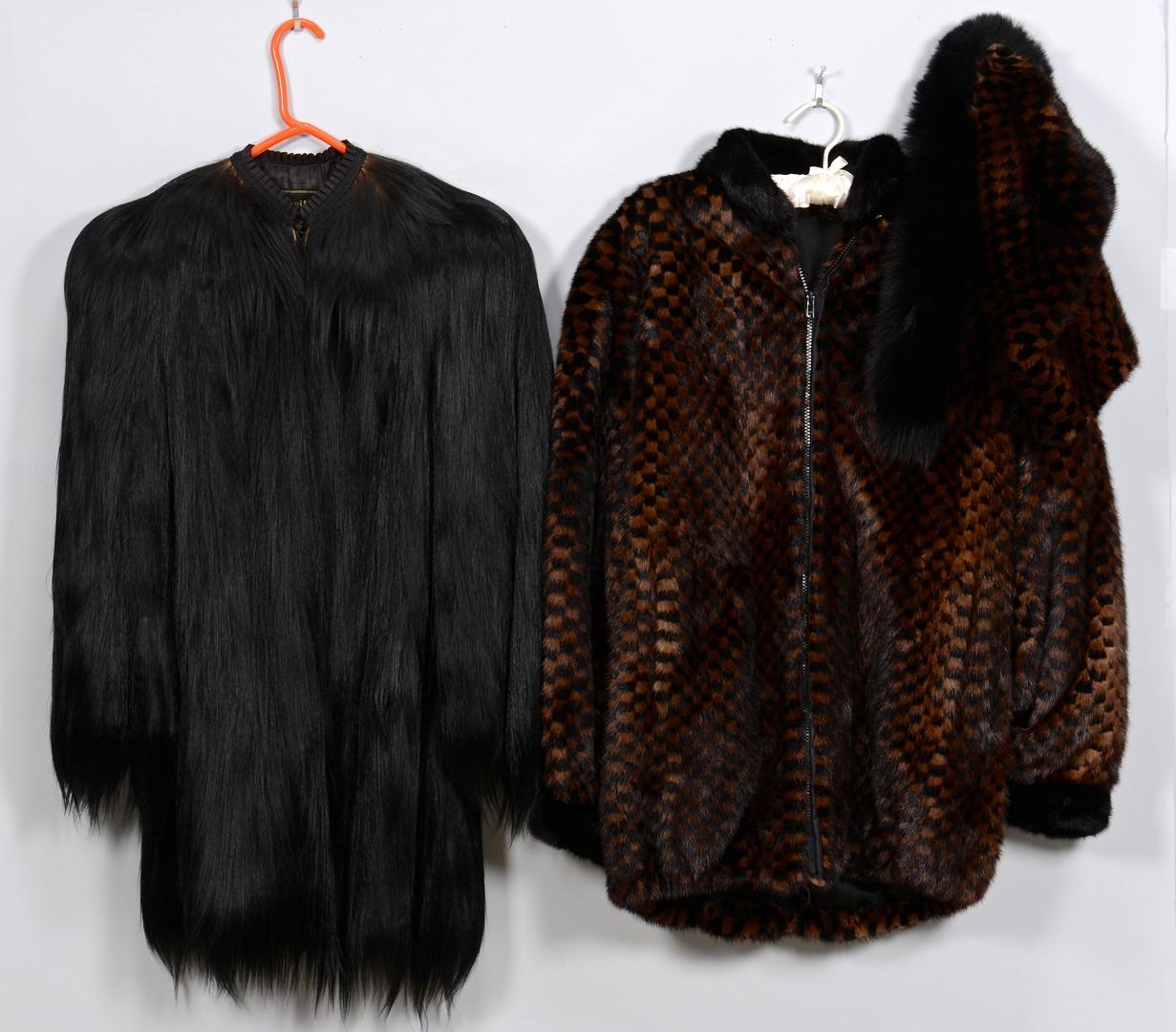 Lot 837: 2 Ladies Fur Coats, 1 Monkey Fur