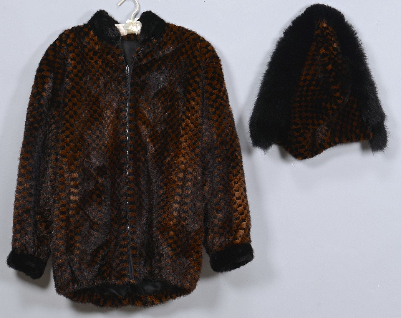 Lot 837: 2 Ladies Fur Coats, 1 Monkey Fur
