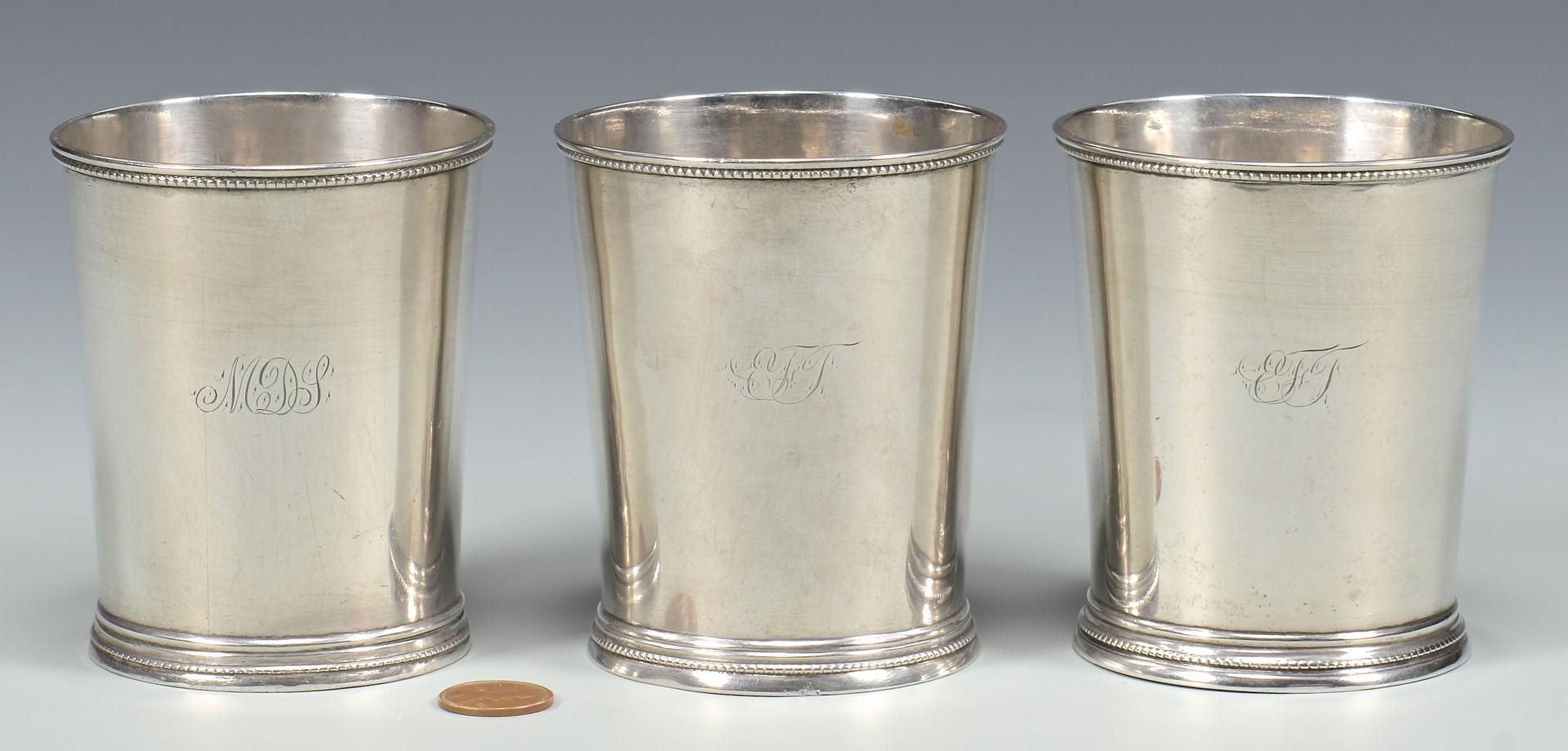 Lot 83: 3 Hyde & Goodrich Julep Cups