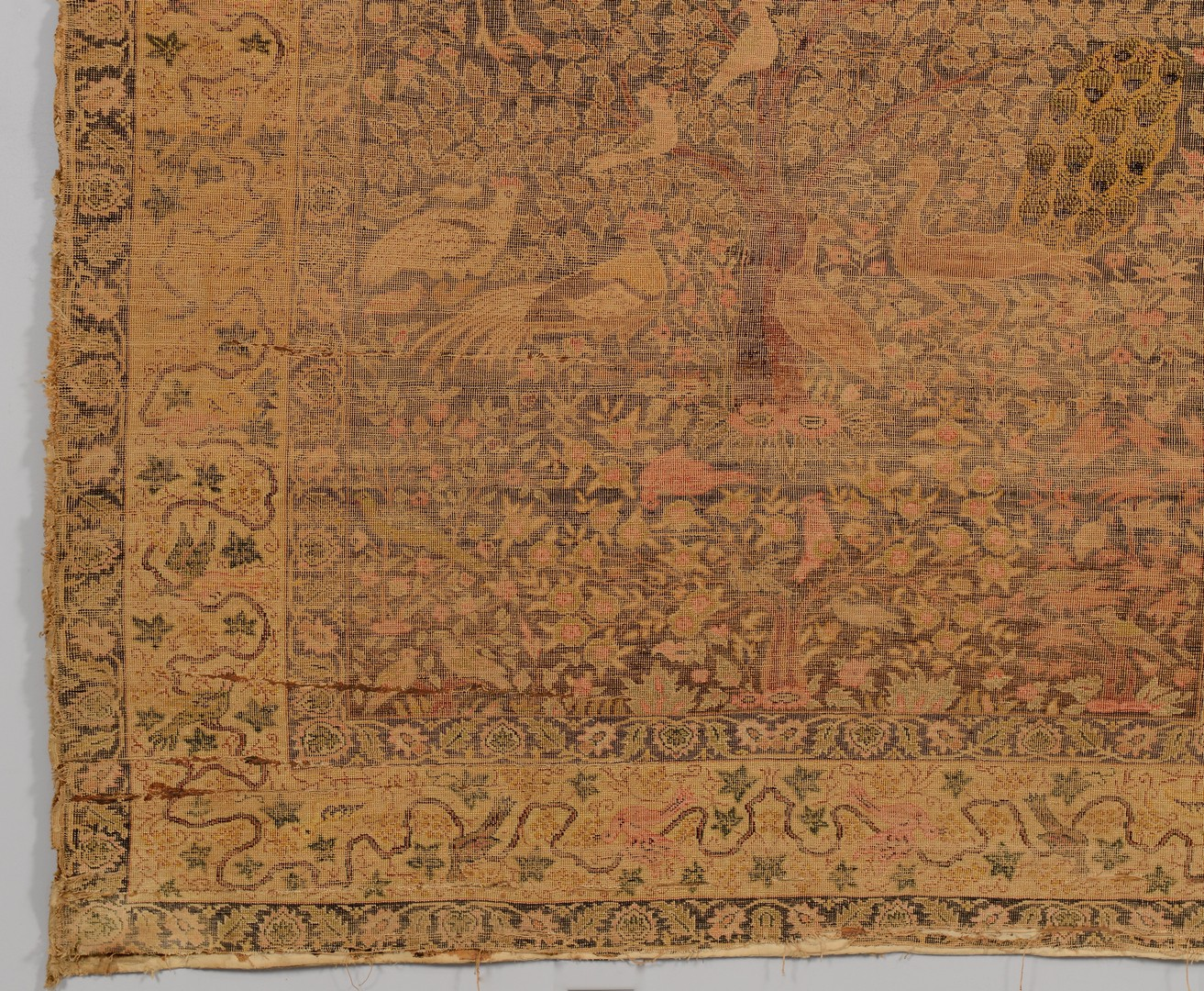 Lot 840: Persian Silk Qum Rug, display mounting