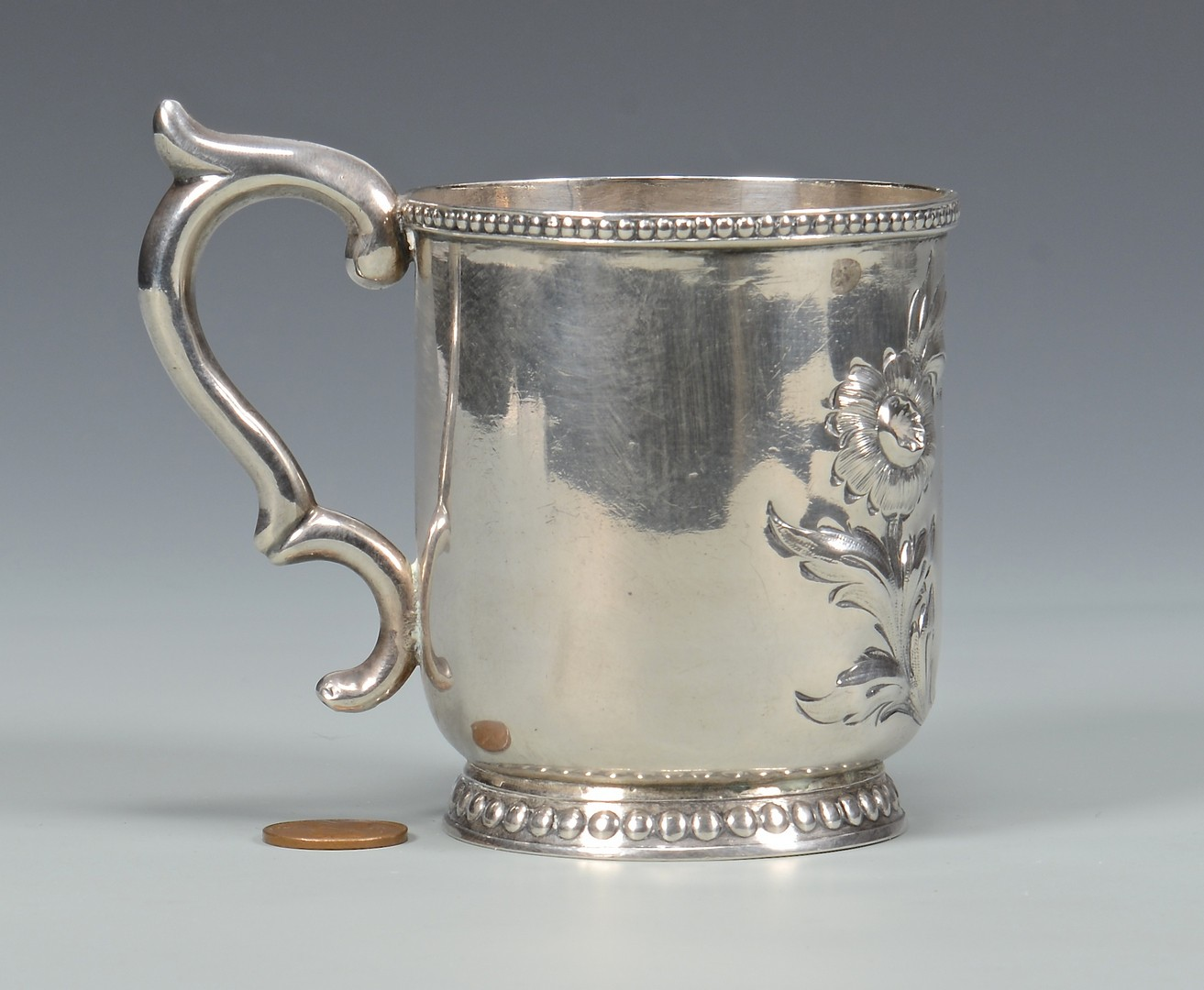 Lot 84: New Orleans Coin Silver Cup, Kuchler