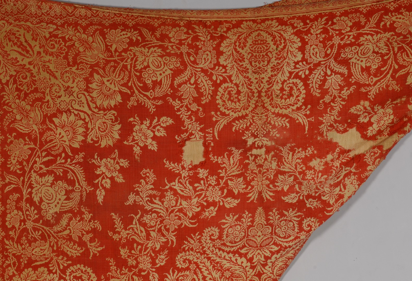 Lot 852: 2 Jacquard Coverlets, Red & Blue