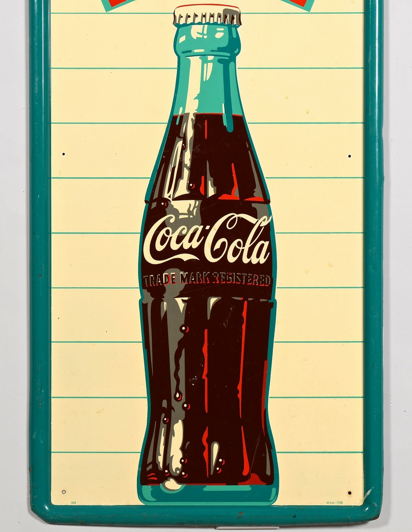 Lot 854: Coca Cola Advertising Sign