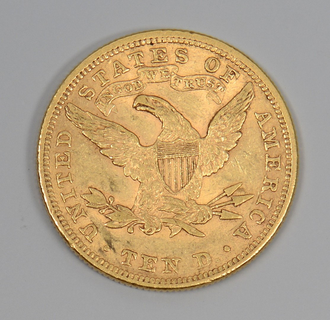 Lot 858: 1898 US $10 Liberty Head Gold Coin