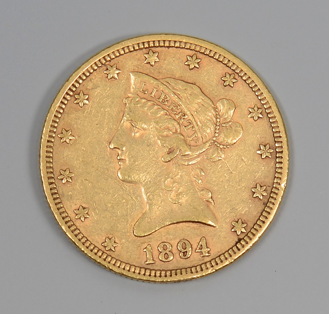 Lot 859: 1894 US $10 Liberty Head Gold Coin