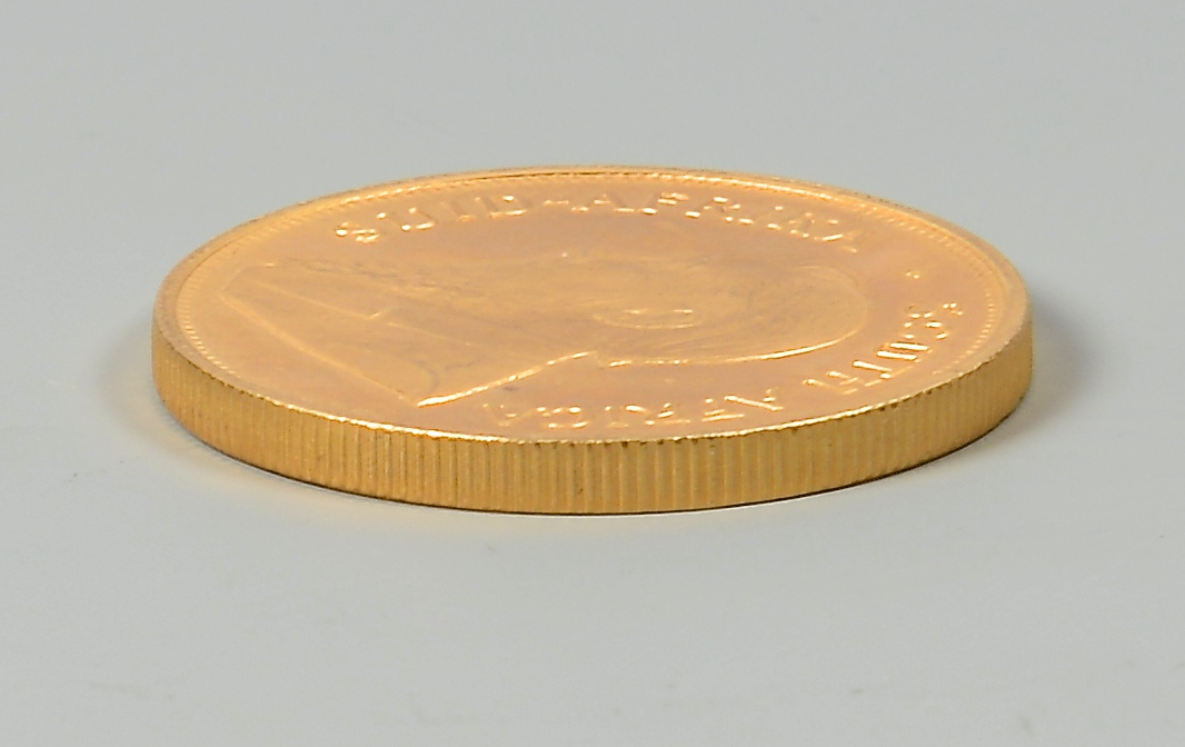 Lot 862: 1 OZ 24K South African Krugerrand