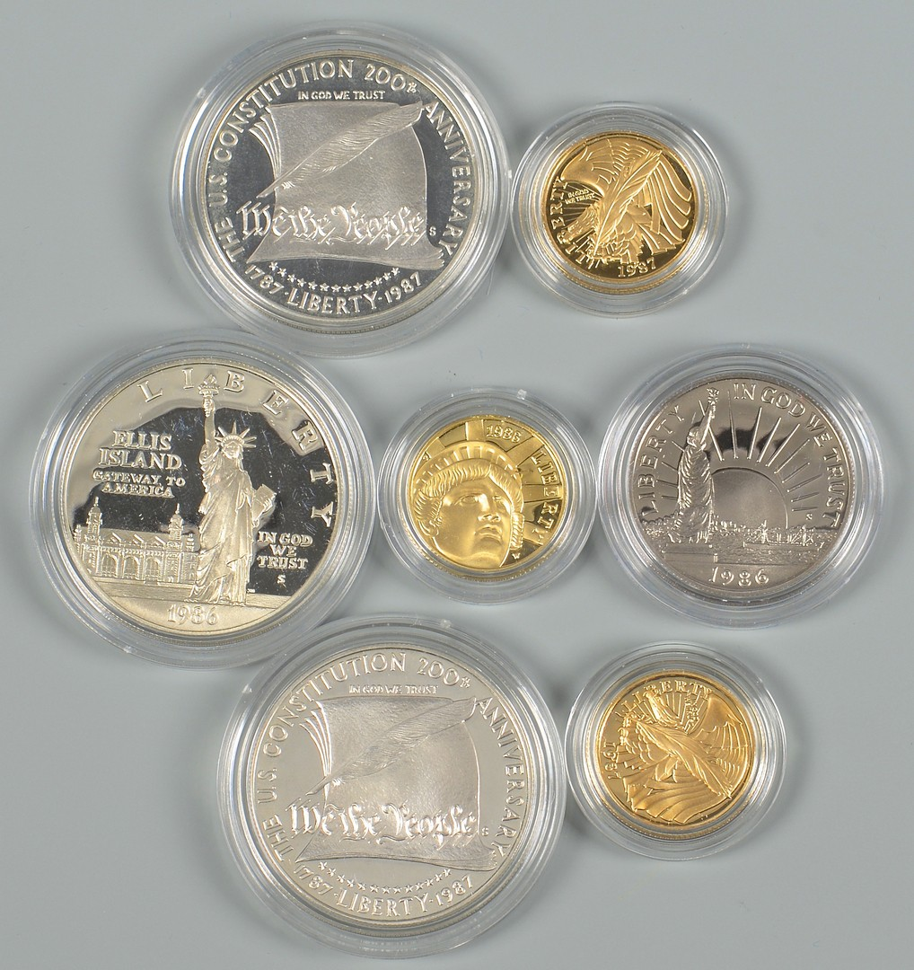 Lot 865: 3 US Mint Collectible Coin Sets