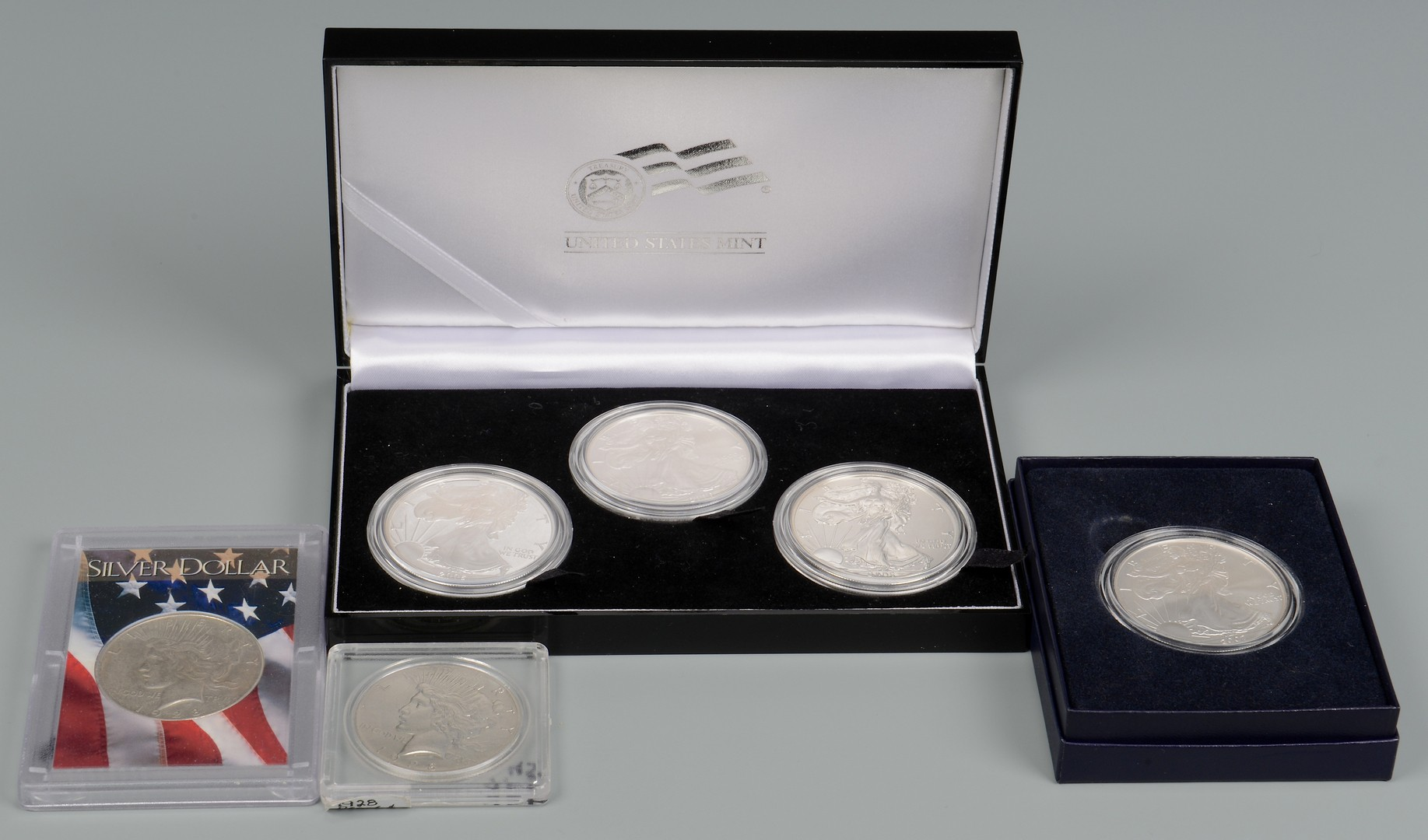 Lot 868: Grouping of Collectible Silver Coins