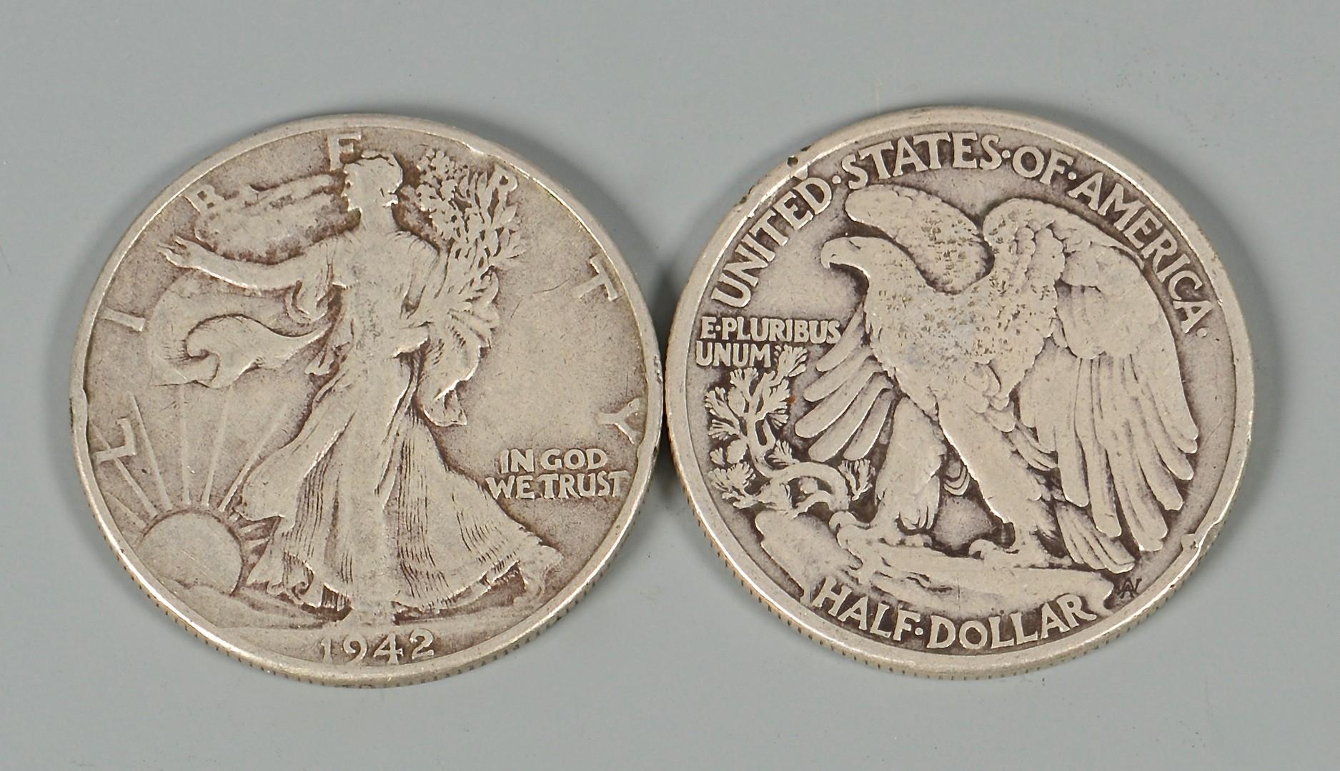 Lot 869: Group of 69 US Standing Liberty Half Dollars