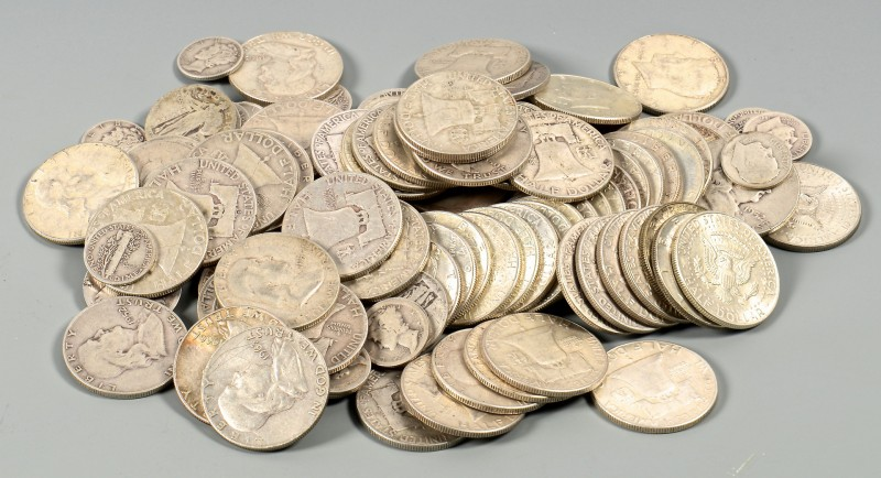 Lot 871: Grouping of US Silver Coins, 127 pcs.