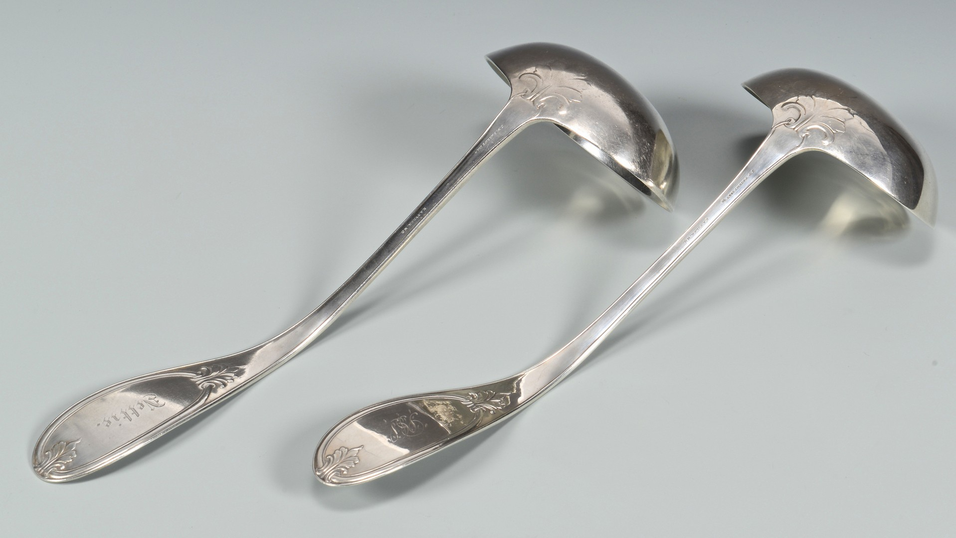 Lot 87: 2 E.A. Tyler Coin Silver Ladles, Empire pattern