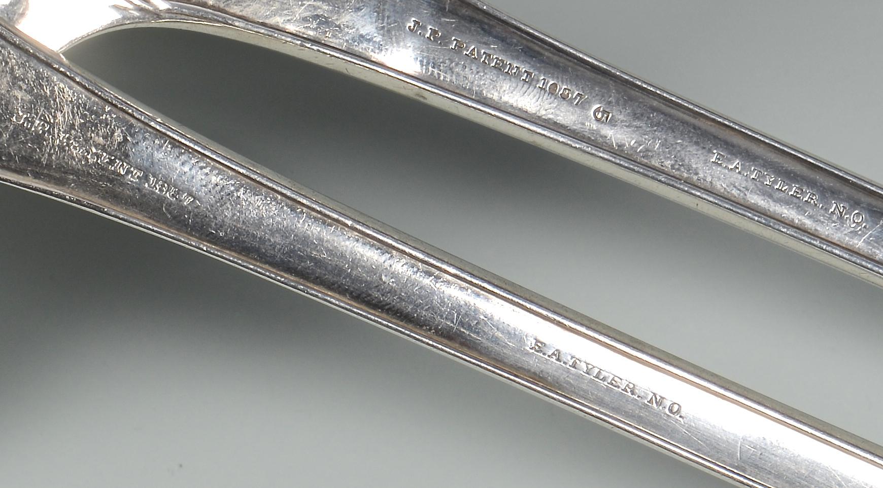 Lot 87: 2 E.A. Tyler Coin Silver Ladles, Empire pattern