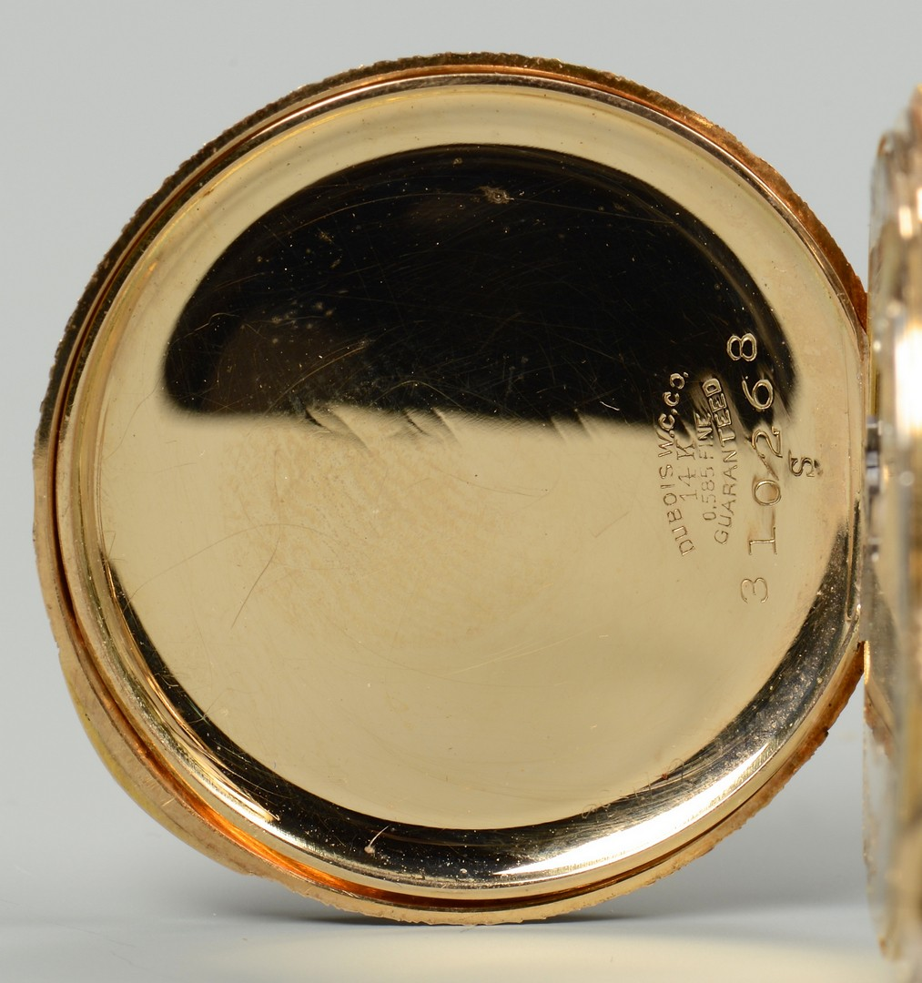 Lot 91: 14k Hope Brothers Hunting Case Watch