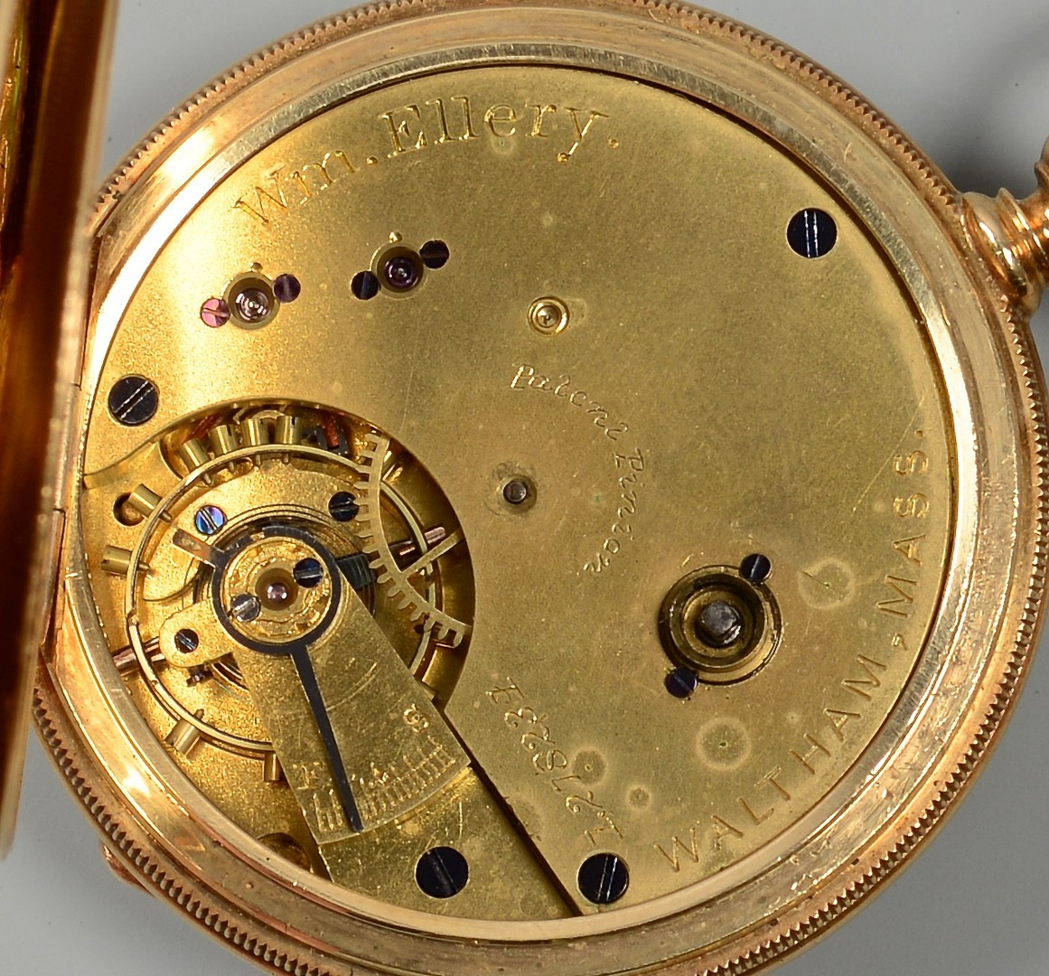Lot 92: 18K Waltham Lady's Pocket Watch