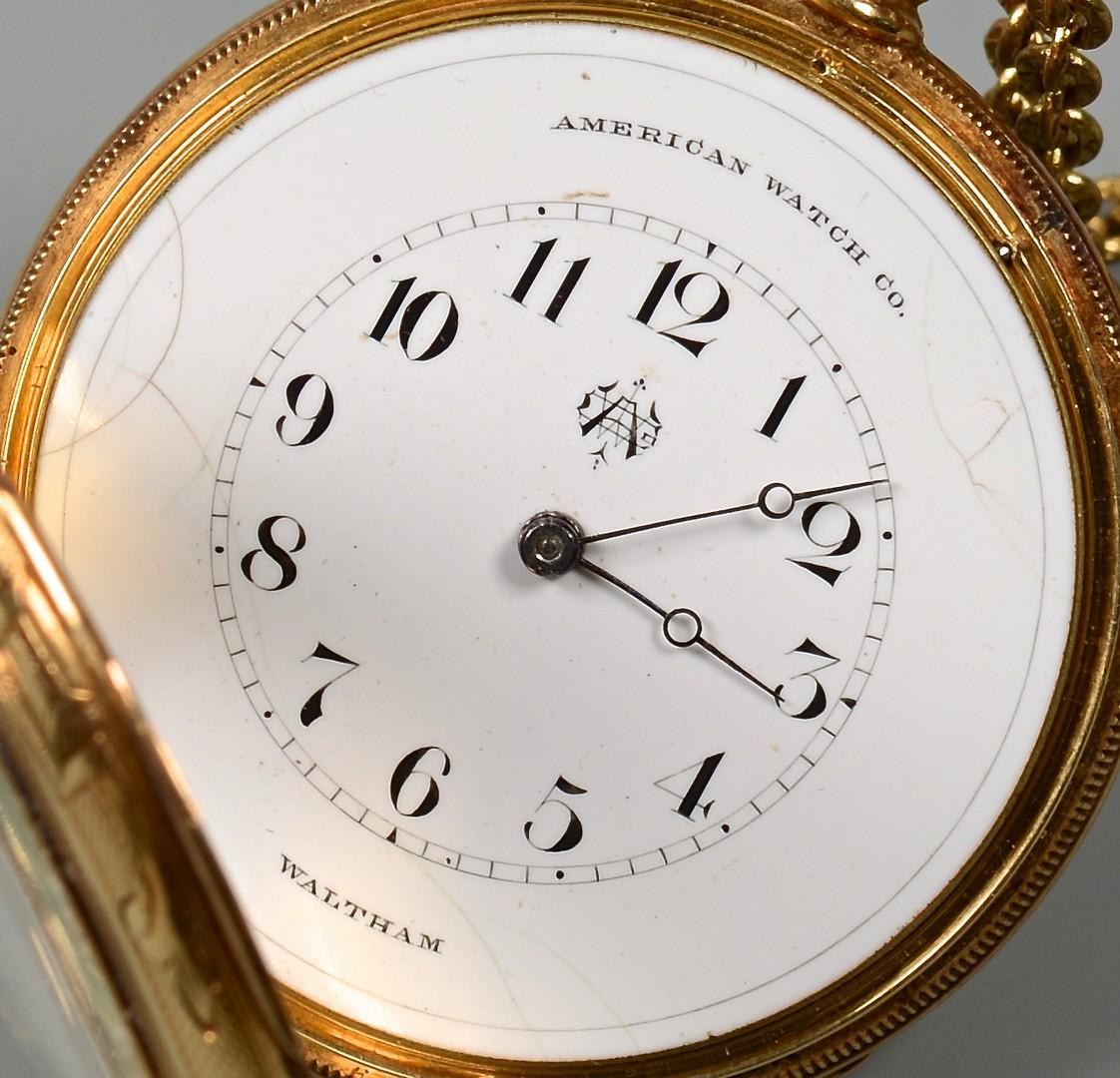 Lot 92: 18K Waltham Lady's Pocket Watch