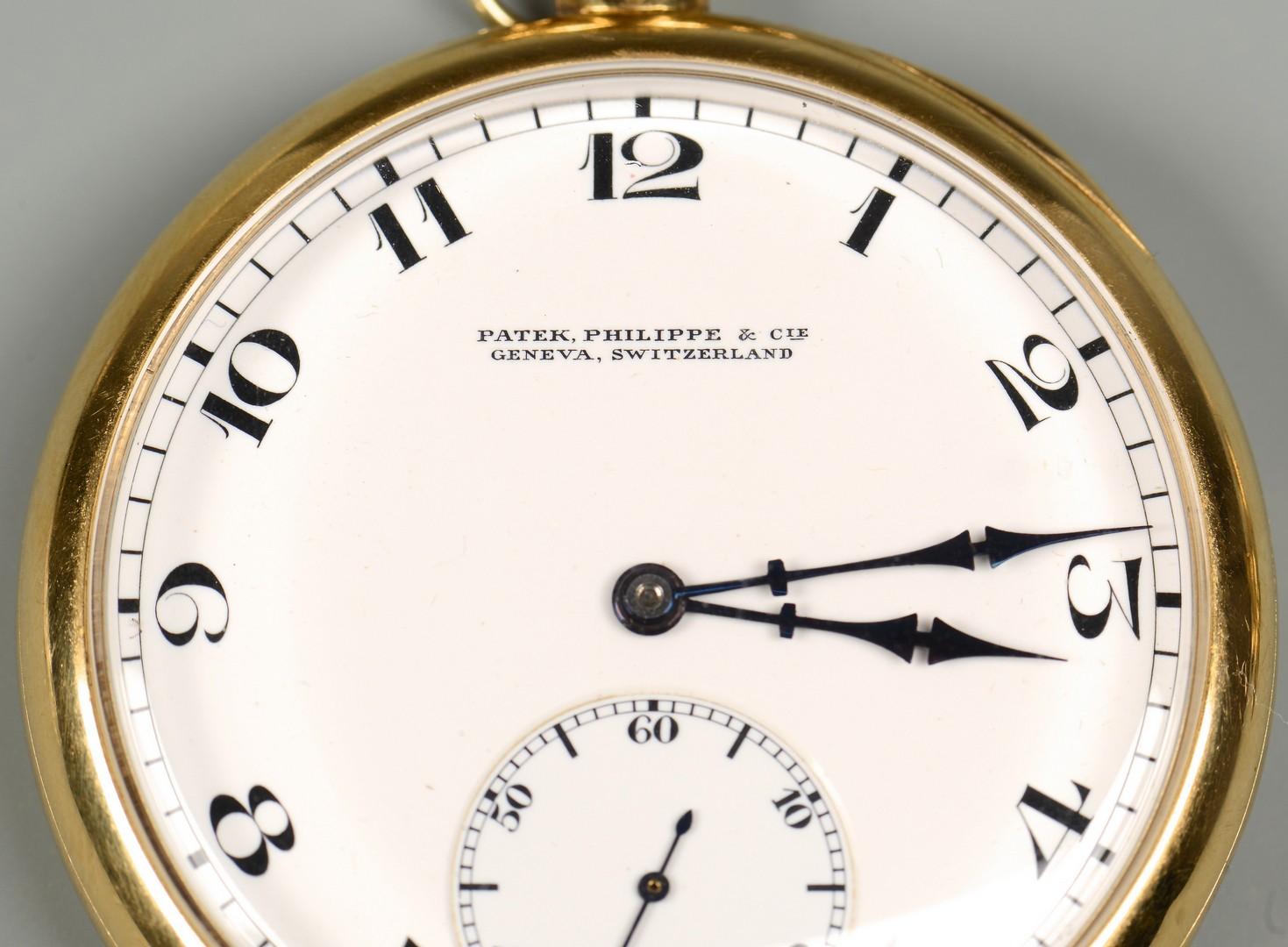 Lot 93: 18K Patek Philippe Men's Pocket Watch