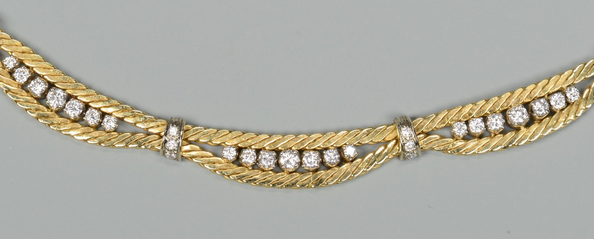 Lot 94: 18k Diamond Necklace, 1.88 cts