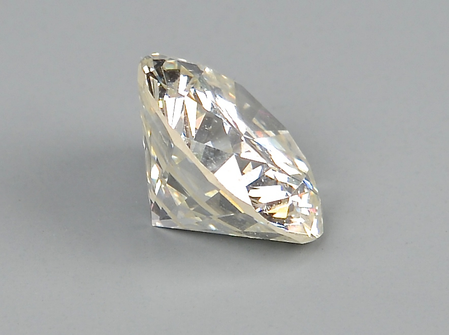 Lot 99: 3.10 round diamond, GIA cert., 14k
