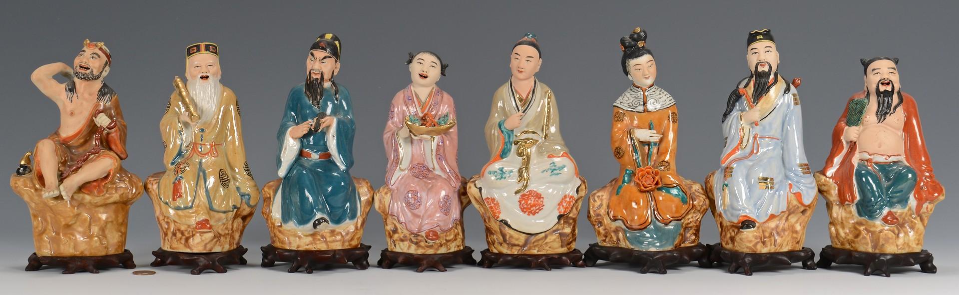 Lot 3832381: 8 Daoist Immortal Figures