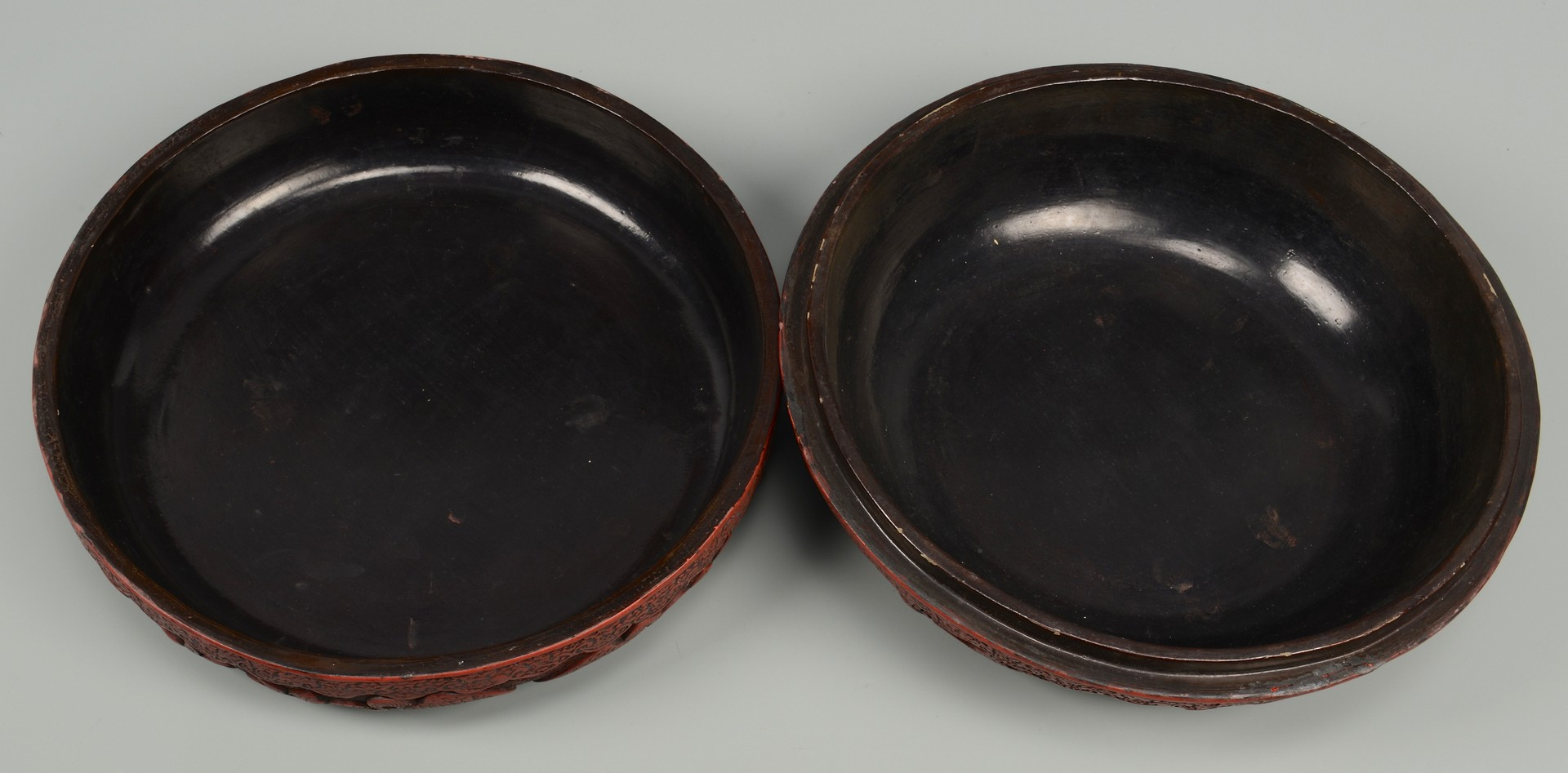 Lot 3832388: Chinese Cinnabar Covered Circular Box