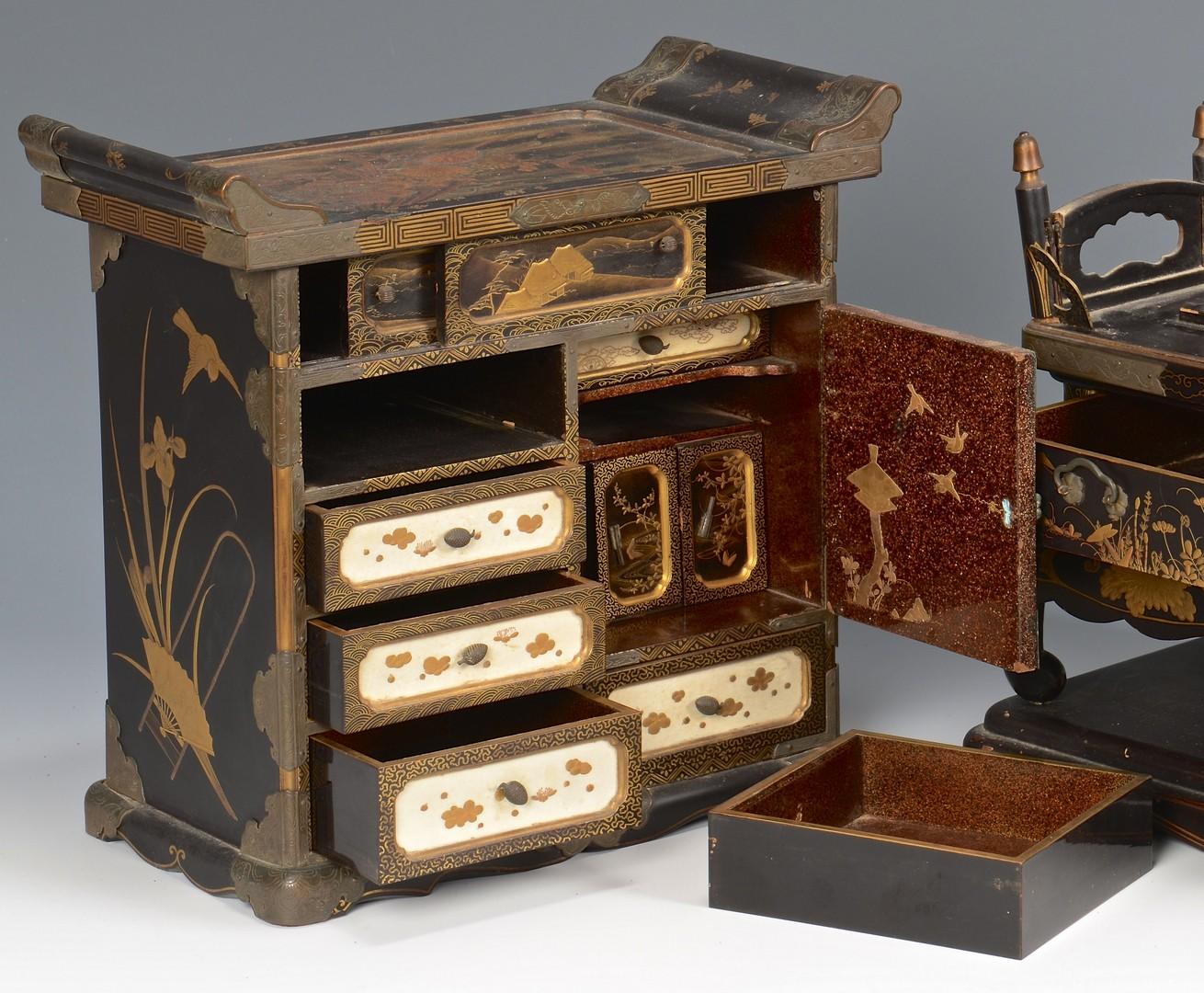 Lot 3832389: Japanese Takamaki-e Miniature Cabinet
