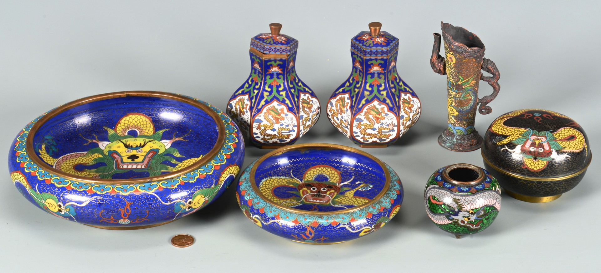 Lot 3832393: Group of 7 Cloisonne Items