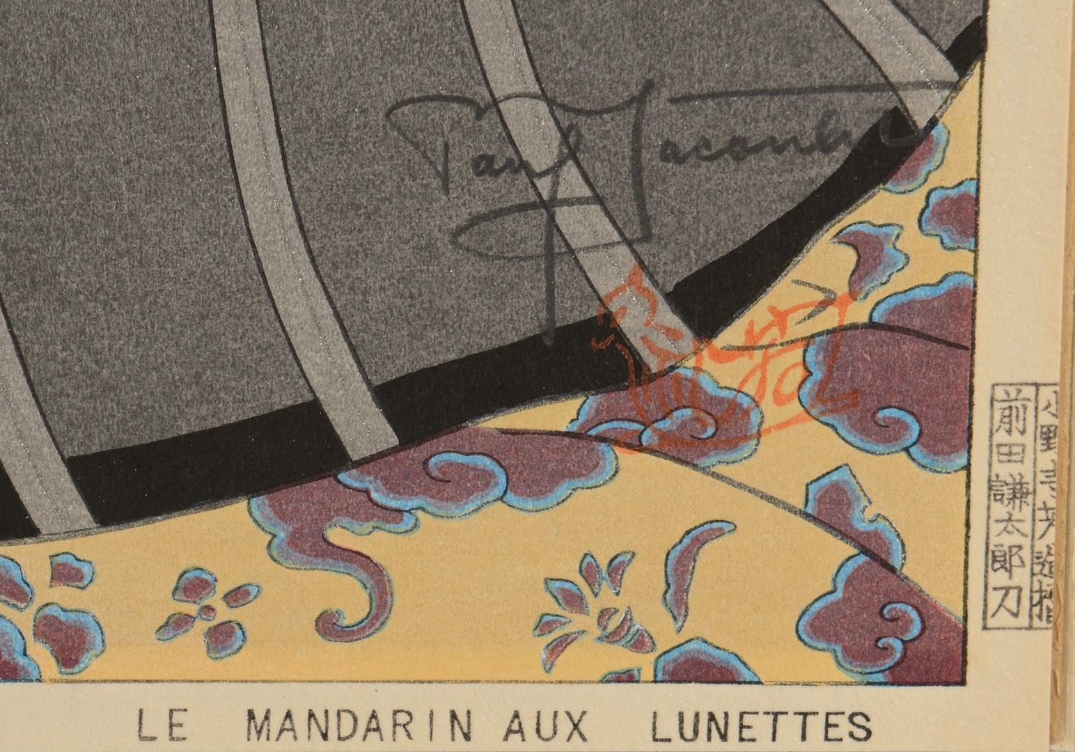 Lot 3832400: Paul Jacoulet woodblock, Le Mandarin aux Lunettes