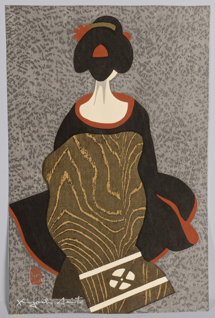 Lot 3832404: Saito, Kyoshi: 3 Maiko Woodblocks