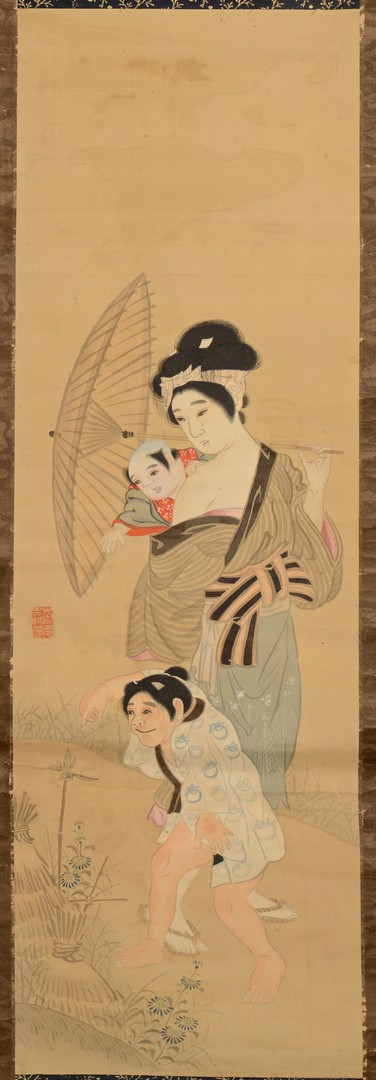 Lot 3832407: 2 Japanese Scrolls Paintings w/ Females